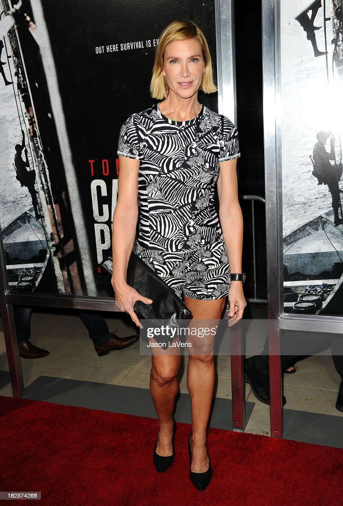Actress Kelly Lynch attends the premiere of 'Captain Phillips' at the Academy of Motion Picture Arts and Sciences on September 30, 2013 in Beverly Hills, California.