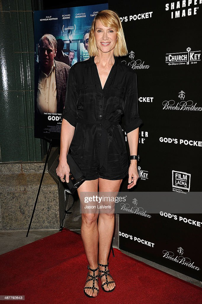 Actress <a gi-track='captionPersonalityLinkClicked' href=/galleries/search?phrase=Kelly+Lynch&family=editorial&specificpeople=203037 ng-click='$event.stopPropagation()'>Kelly Lynch</a> attends the premiere of 'God's Pocket' at LACMA on May 1, 2014 in Los Angeles, California.