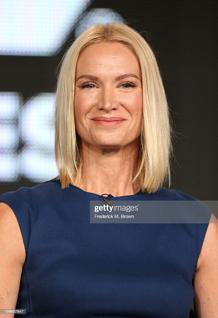 Actress Kelly Lynch speaks onstage at the 'Magic City' panel discussion during the Starz portion of the 2013 Winter TCA Tour- Day 2 at Langham Hotel on January 5, 2013 in Pasadena, California.