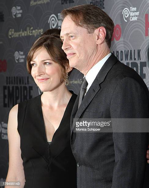 Actress Kelly Macdonald and actor Steve Buscemi attend the 'Boardwalk Empire' season four New York premiere at Ziegfeld Theater on September 3 2013...