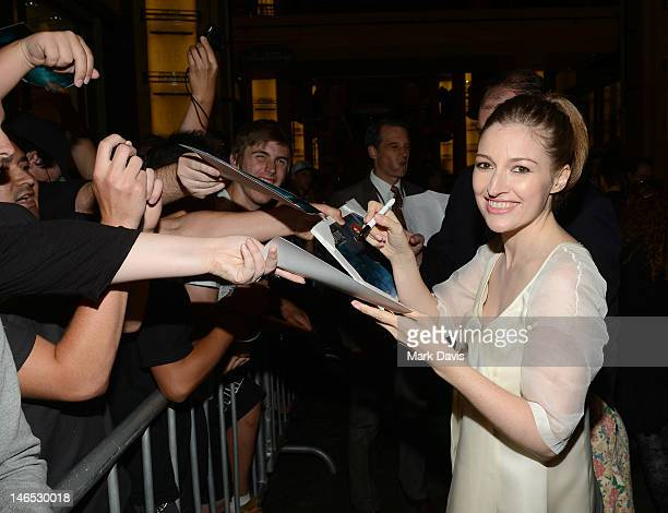Actress Kelly Macdonald arrives at the premiere of 'Brave' during the 2012 Los Angeles Film Festival at Dolby Theatre on June 18 2012 in Hollywood...