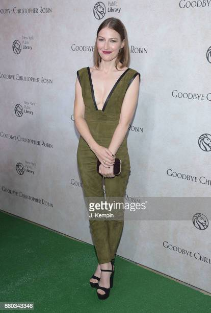 Actress Kelly Macdonald attends the 'Good Bye Christopher Robin' New York Special Screening at The New York Public Library on October 11 2017 in New...