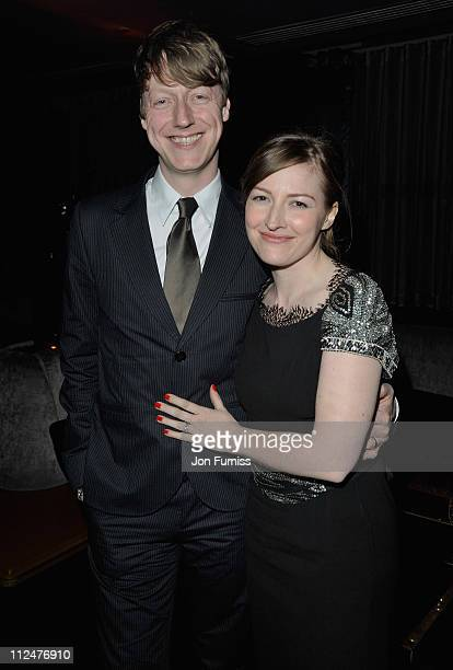 Actress Kelly Macdonald with her husband Dougie Payne attend the 'Skellig' VIP Screening after party at Whisky Mist on March 25 2009 in London England