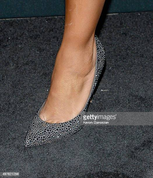 Actress Kelly McCreary shoe detail attends Hollywood Foreign Press Association and InStyle Celebration of The 2016 Golden Globe Award Season at...