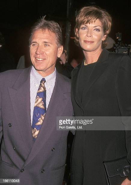 Actress Kelly McGillis and husband Fred Tillman attend the 'At First Sight' Westwood Premiere on January 12 1999 at Mann Bruin Theatre in Westwood...