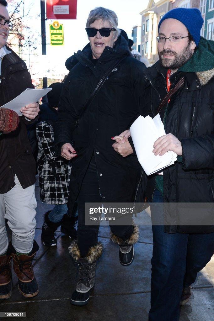 Actress Kelly McGillis leaves the Los Angeles Times portrait studio on January 19, 2013 in Park City, Utah.