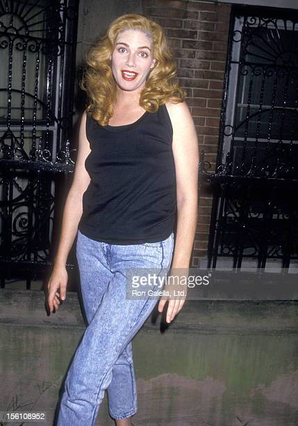 Actress Kelly McGillis on August 6 1987 hanging outside her Brooklyn Home on Carol Street in Brookly New York