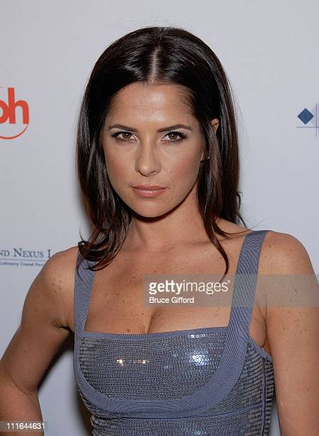 Actress Kelly Monaco arrives at 2009 Miss USA Pageant Red Carpet Arrivals at Planet Hollywood Resort Casino on April 19 2009 in Las Vegas Nevada