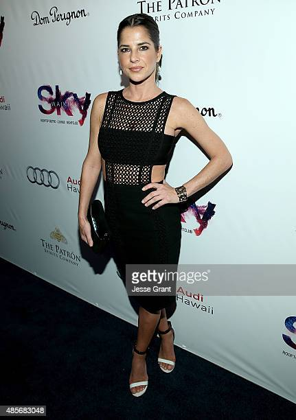 Actress Kelly Monaco attends the Grand Opening of SKY Waikiki on August 28 2015 in Honolulu Hawaii