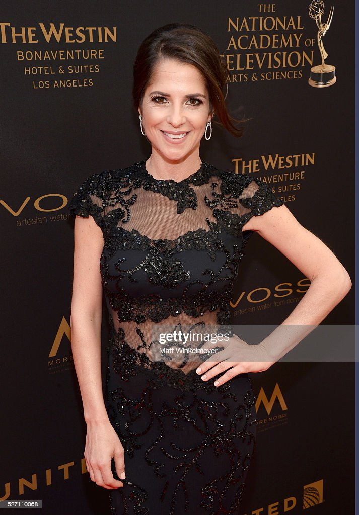 Actress <a gi-track='captionPersonalityLinkClicked' href=/galleries/search?phrase=Kelly+Monaco&family=editorial&specificpeople=3958054 ng-click='$event.stopPropagation()'>Kelly Monaco</a> walks the red carpet at the 43rd Annual Daytime Emmy Awards at the Westin Bonaventure Hotel on May 1, 2016 in Los Angeles, California.