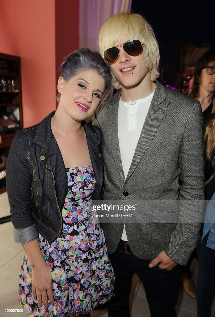 Actress Kelly Osbourne and Luke Worral pose at W Hotels' Symmetry Live featuring Janelle Monae at W Hollywood on May 25, 2010 in Hollywood, California.