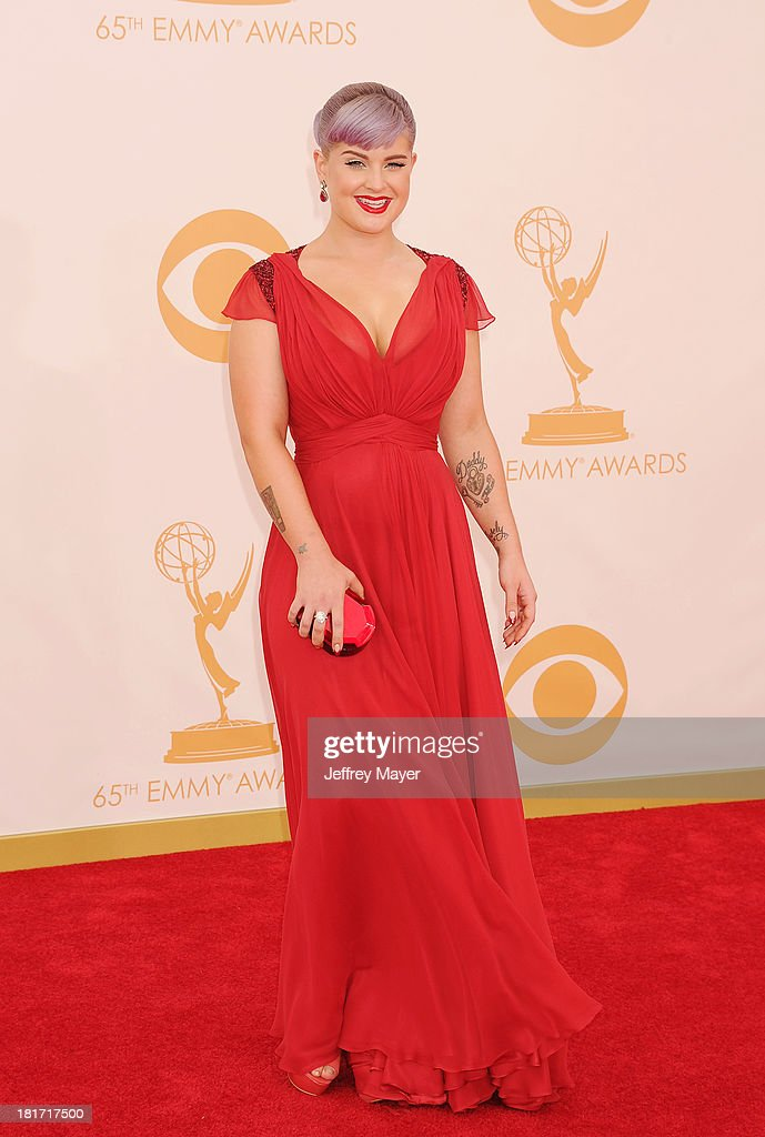Actress <a gi-track='captionPersonalityLinkClicked' href=/galleries/search?phrase=Kelly+Osbourne&family=editorial&specificpeople=156416 ng-click='$event.stopPropagation()'>Kelly Osbourne</a> arrives at the 65th Annual Primetime Emmy Awards at Nokia Theatre L.A. Live on September 22, 2013 in Los Angeles, California.