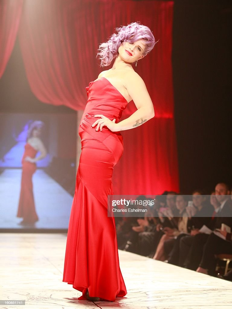 Actress Kelly Osbourne walks the runway at The Heart Truth's Red Dress Collection Fall 2013 Mercedes-Benz Fashion Show at 499 Seventh Avenue on February 6, 2013 in New York City.