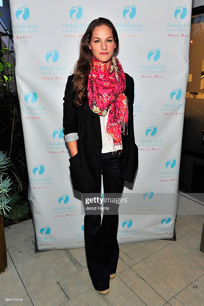 Actress Kelly Overton attends Travaasa Resorts official LA experience event at Kinara Spa on March 19, 2013 in Los Angeles, California.