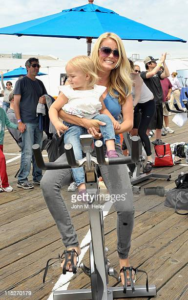 Actress Kelly Paackard attends the 100 Mile Man Foundation's 'Pedal On The Pier' at the Santa Monica Pier on June 5 2011 in Santa Monica California