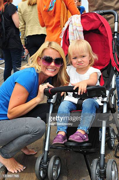 Actress Kelly Packard and her daughter Halle Packard attend the Pedal On The Pier charity event benefiting inner city schools at Santa Monica Pier on...