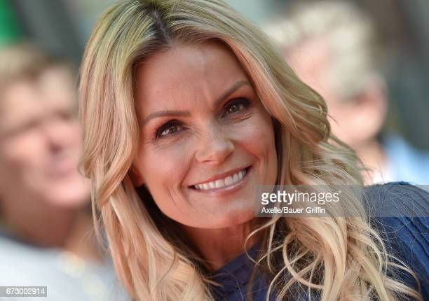 Actress Kelly Packard arrives at the 'Baywatch' SlowMo Marathon at Microsoft Square on April 22 2017 in Los Angeles California