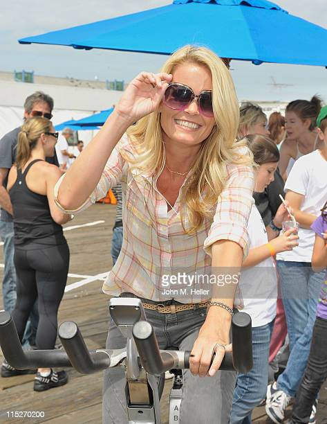 Actress Kelly Packard attends the 100 Mile Man Foundation's 'Pedal On The Pier' at the Santa Monica Pier on June 5 2011 in Santa Monica California