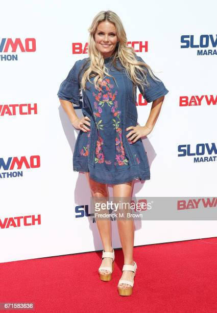Actress Kelly Packard attends The 'Baywatch' SlowMo Marathon at the Microsoft Square on April 22 2017 in Los Angeles California