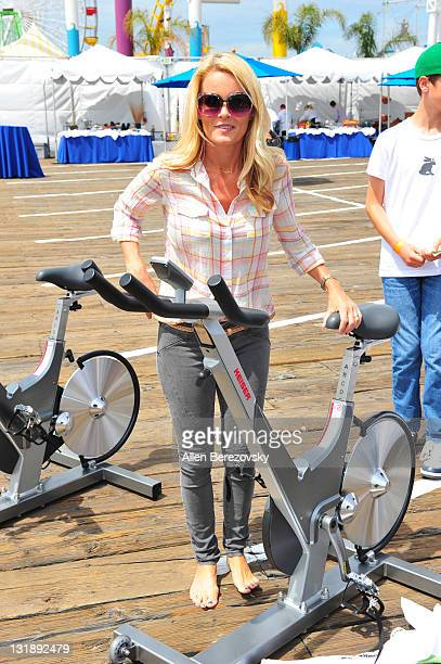 Actress Kelly Packard attends the Pedal On The Pier charity event benefiting inner city schools at Santa Monica Pier on June 5 2011 in Santa Monica...