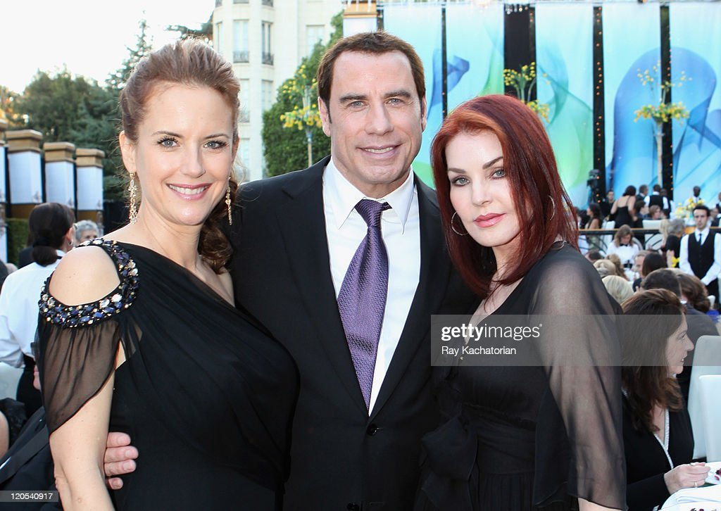 Actress Kelly Preston actor John Travolta and Priscilla Presley attend the Church of Scientology Celebrity Centre 42nd Anniversary Gala held at the...