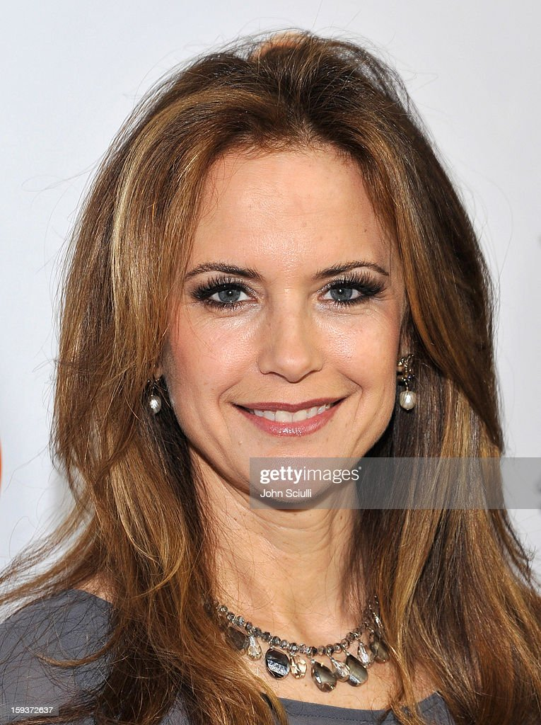 Actress Kelly Preston arrives at the 2013 G'Day USA Los Angeles Black Tie Gala at JW Marriott Los Angeles at LA LIVE on January 12 2013 in Los...