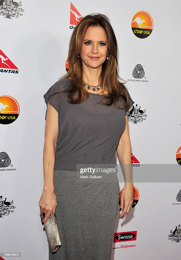 Actress Kelly Preston arrives for the G'Day USA Black Tie Gala held at at the JW Marriot at LA Live on January 12, 2013 in Los Angeles, California.