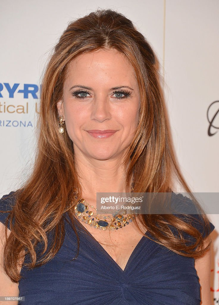 Actress Kelly Preston arrives to the 10th Annual Living Legends of Aviation Awards at The Beverly Hilton Hotel on January 18, 2013 in Beverly Hills, California.