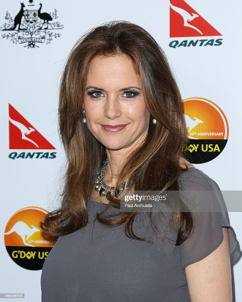 Actress Kelly Preston attends the 2013 G'Day USA Los Angeles Black Tie Gala at JW Marriott Los Angeles at L.A. LIVE on January 12, 2013 in Los Angeles, California.