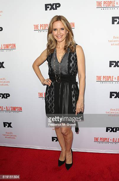Actress Kelly Preston attends the FX's For Your Consideration Event for 'The People v OJ Simpson American Crime Story' at The Theatre at Ace Hotel on...