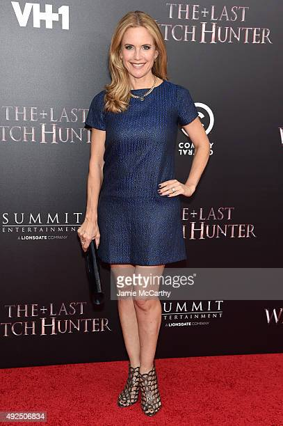 Actress Kelly Preston attends the New York premiere of 'The Last Witch Hunter' at AMC Loews Lincoln Square on October 13 2015 in New York City