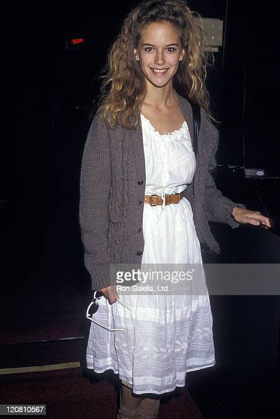 Actress Kelly Preston attends the Young Artists United Press Conference to Speak About Teen Suicide on March 24 1987 at The Comedy Store in West...