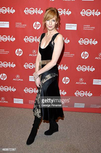 Actress Kelly Reilly attends the 'Cavalry' premiere at Eccles Center Theatre during the 2014 Sundance Film Festival on January 19 2014 in Park City...