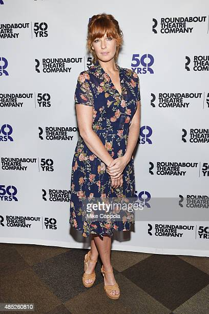 Actress Kelly Reilly attends the 'Old Times' Broadway Cast Photocallon August 26 2015 in New York City
