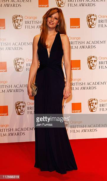 Actress Kelly Reilly poses in the Press Room during The Orange British Academy Film Awards 2008 at The Royal Opera House Covent Garden on February 10...