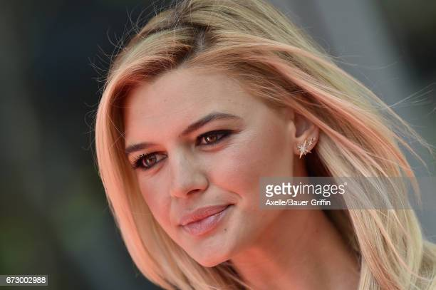 Actress Kelly Rohrbach arrives at the 'Baywatch' SlowMo Marathon at Microsoft Square on April 22 2017 in Los Angeles California