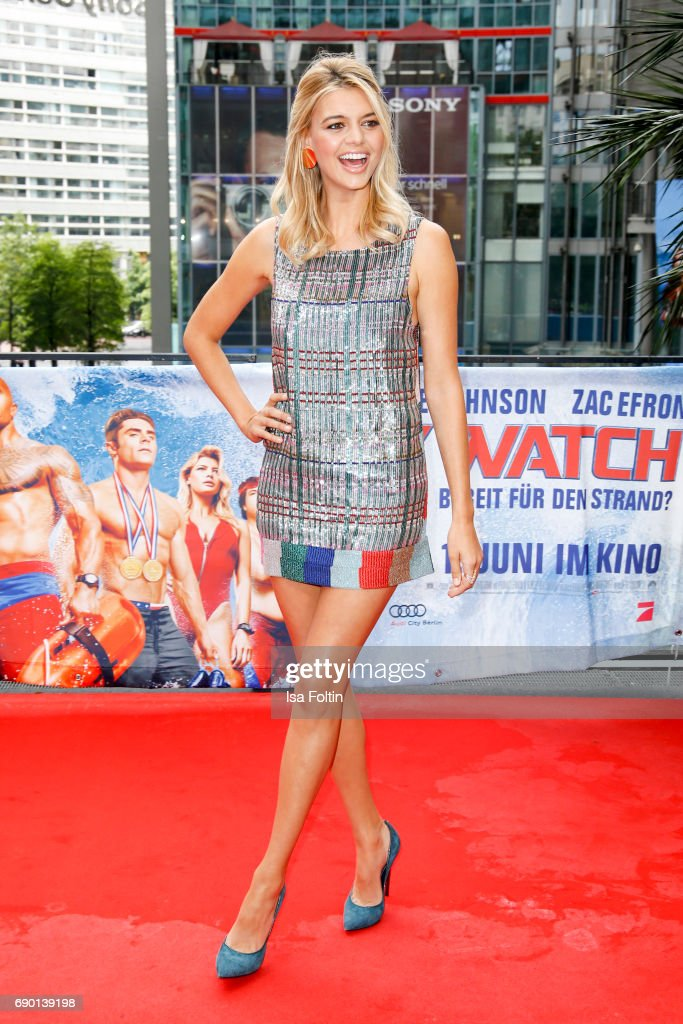 US actress Kelly Rohrbach attends the 'Baywatch' Photo Call in Berlin on May 30, 2017 in Berlin, Germany.