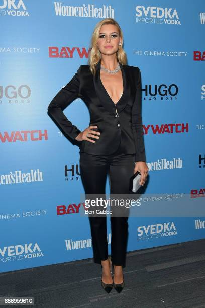 Actress Kelly Rohrbach attends The Cinema Society Screening of 'Baywatch' at Landmark Sunshine Cinema on May 22 2017 in New York City