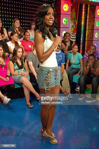 Actress Kelly Rowland appears on MTV's 'TRL' at MTV Studios on July 3rd in Times Square New York