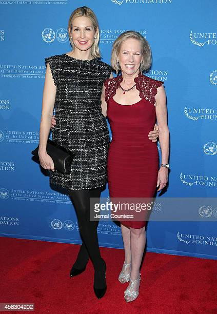 Actress Kelly Rutherford and CEO of the United Nations Foundation Kathy Calvin attends the 2014 Global Leadership Dinner at Cipriani 42nd Street on...