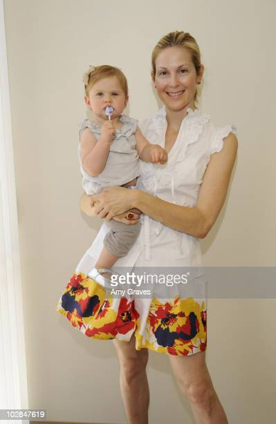 Actress Kelly Rutherford and daughter Helena attend a fitting wearing Susie Rose Tacori and shoes by Joe's on June 24 2010 in Beverly Hills California