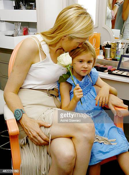Actress Kelly Rutherford and daughter Helena Grace Rutherford Giersch attend the Blushington New York City Grand Opening Party at Le Parker Meridien...