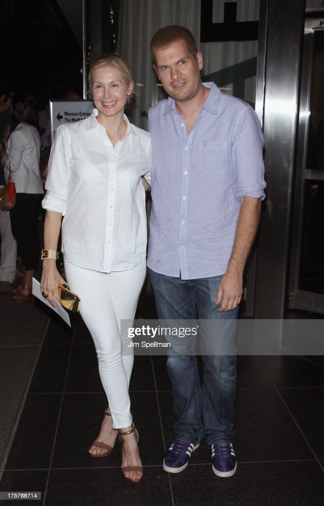 Actress <a gi-track='captionPersonalityLinkClicked' href=/galleries/search?phrase=Kelly+Rutherford&family=editorial&specificpeople=217987 ng-click='$event.stopPropagation()'>Kelly Rutherford</a> and guest attend 'Jobs' New York Premiere at MOMA on August 7, 2013 in New York City.