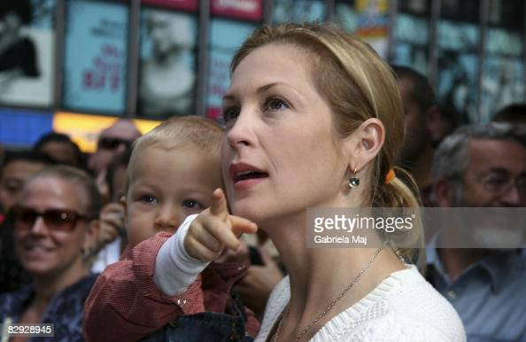 Actress Kelly Rutherford and son Hermes attend the unveiling of Playhouse Disney's line of preschool toys and electronics at Toys R Us in Times...