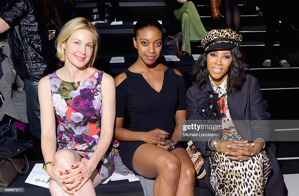 Actress <a gi-track='captionPersonalityLinkClicked' href=/galleries/search?phrase=Kelly+Rutherford&family=editorial&specificpeople=217987 ng-click='$event.stopPropagation()'>Kelly Rutherford</a> (L) and stylist <a gi-track='captionPersonalityLinkClicked' href=/galleries/search?phrase=June+Ambrose&family=editorial&specificpeople=619410 ng-click='$event.stopPropagation()'>June Ambrose</a> (R) attend the Nanette Lepore fashion show during Mercedes-Benz Fashion Week Fall 2014 at The Salon at Lincoln Center on February 12, 2014 in New York City.