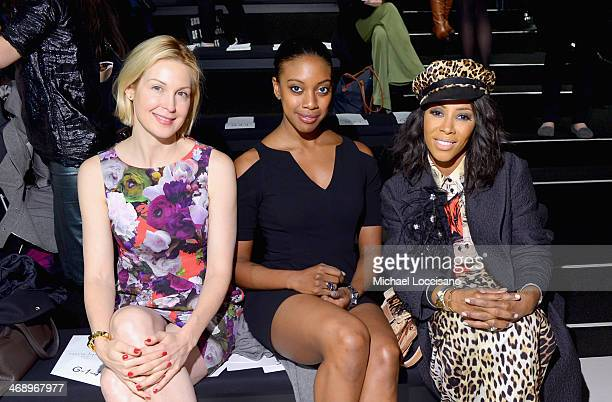 Actress Kelly Rutherford and stylist June Ambrose attend the Nanette Lepore fashion show during MercedesBenz Fashion Week Fall 2014 at The Salon at...