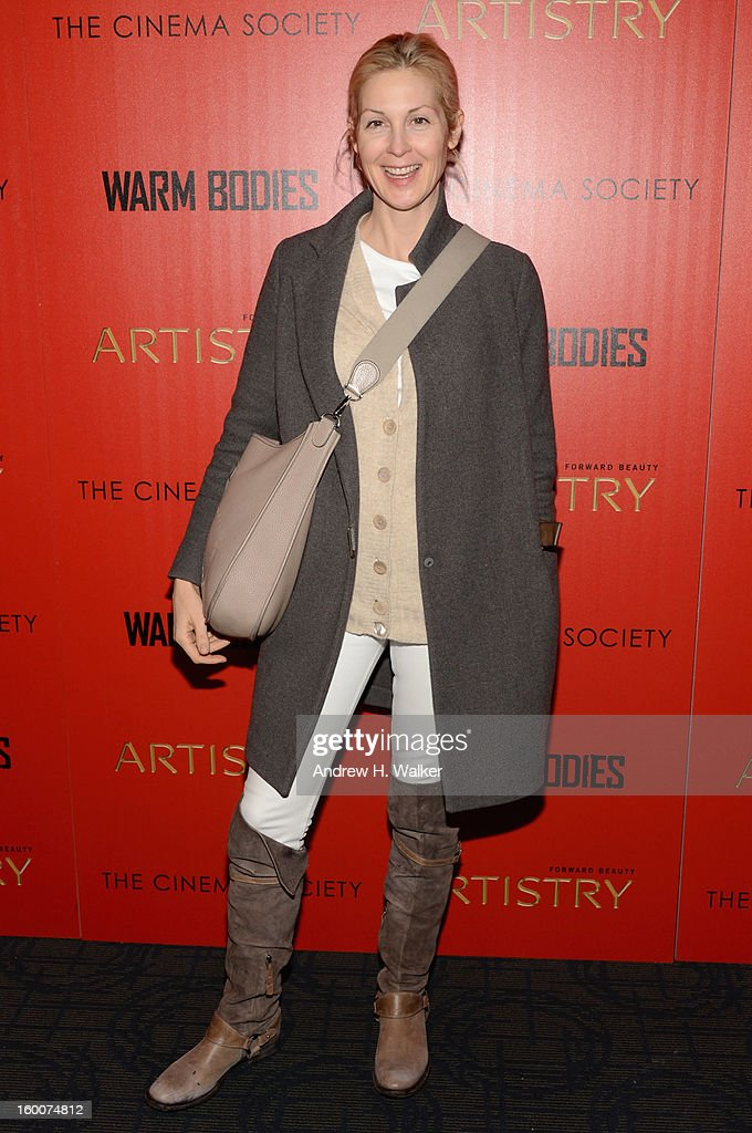 Actress Kelly Rutherford attends a screening of 'Warm Bodies' hosted by The Cinema Society at Landmark's Sunshine Cinema on January 25, 2013 in New York City.