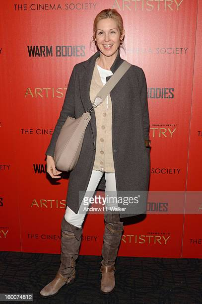 Actress Kelly Rutherford attends a screening of 'Warm Bodies' hosted by The Cinema Society at Landmark's Sunshine Cinema on January 25 2013 in New...