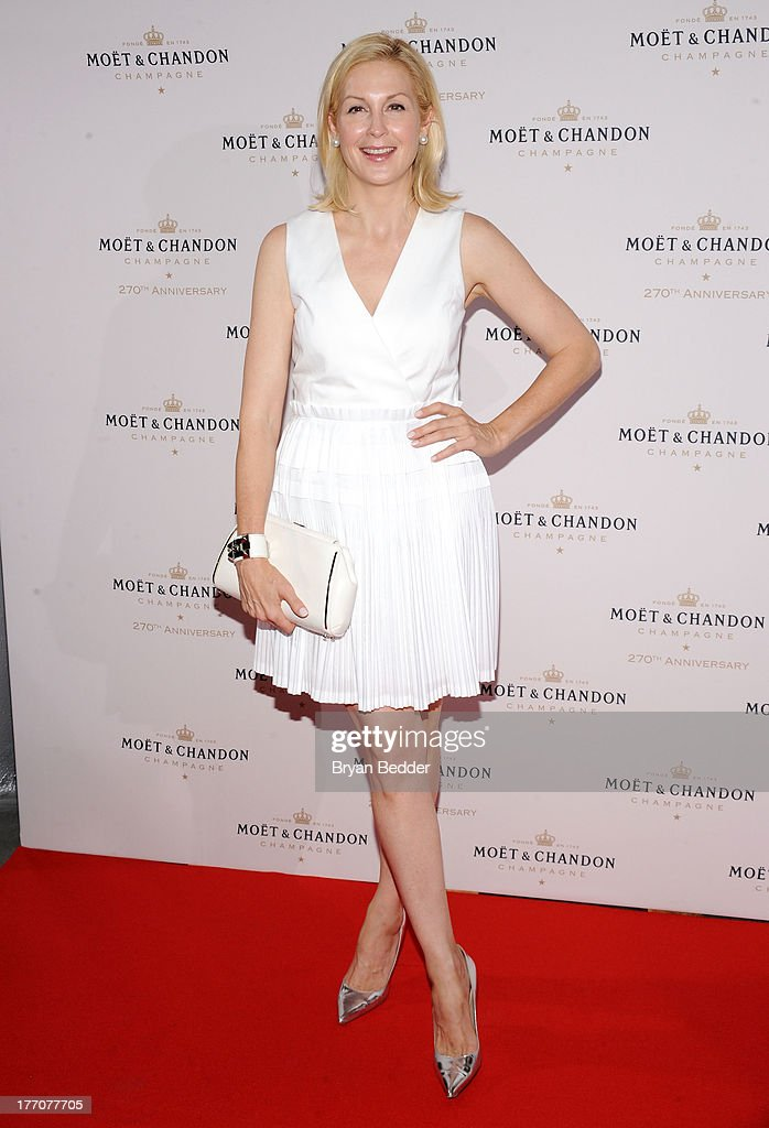 Actress <a gi-track='captionPersonalityLinkClicked' href=/galleries/search?phrase=Kelly+Rutherford&family=editorial&specificpeople=217987 ng-click='$event.stopPropagation()'>Kelly Rutherford</a> attends Moet & Chandon Celebrates Its 270th Anniversary With New Global Brand Ambassador, International Tennis Champion, Roger Federer at Chelsea Piers Sports Center on August 20, 2013 in New York City.