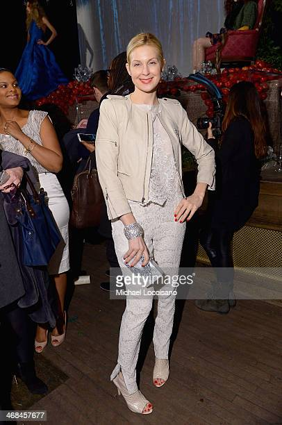 Actress Kelly Rutherford attends the alice olivia by Stacey Bendet Fall 2014 presentation during MercedesBenz Fashion Week Fall 2014 at The...